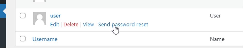 Slanje mejla sa linkom za resetovanje lozinke.